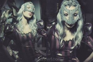 dark fashion latex and chainmail