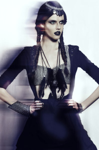 chainmail and dark fashion image.