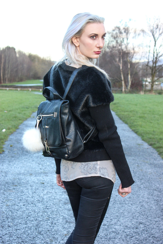 fur jumper aestheticcontradiction dark fashion blog 4