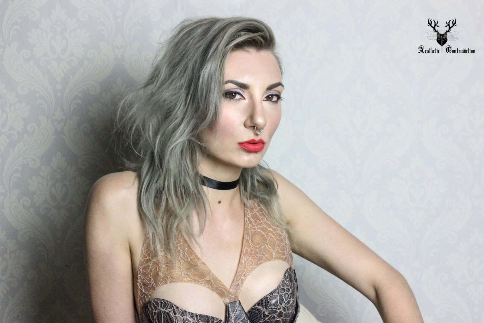 grey hair aurora bra